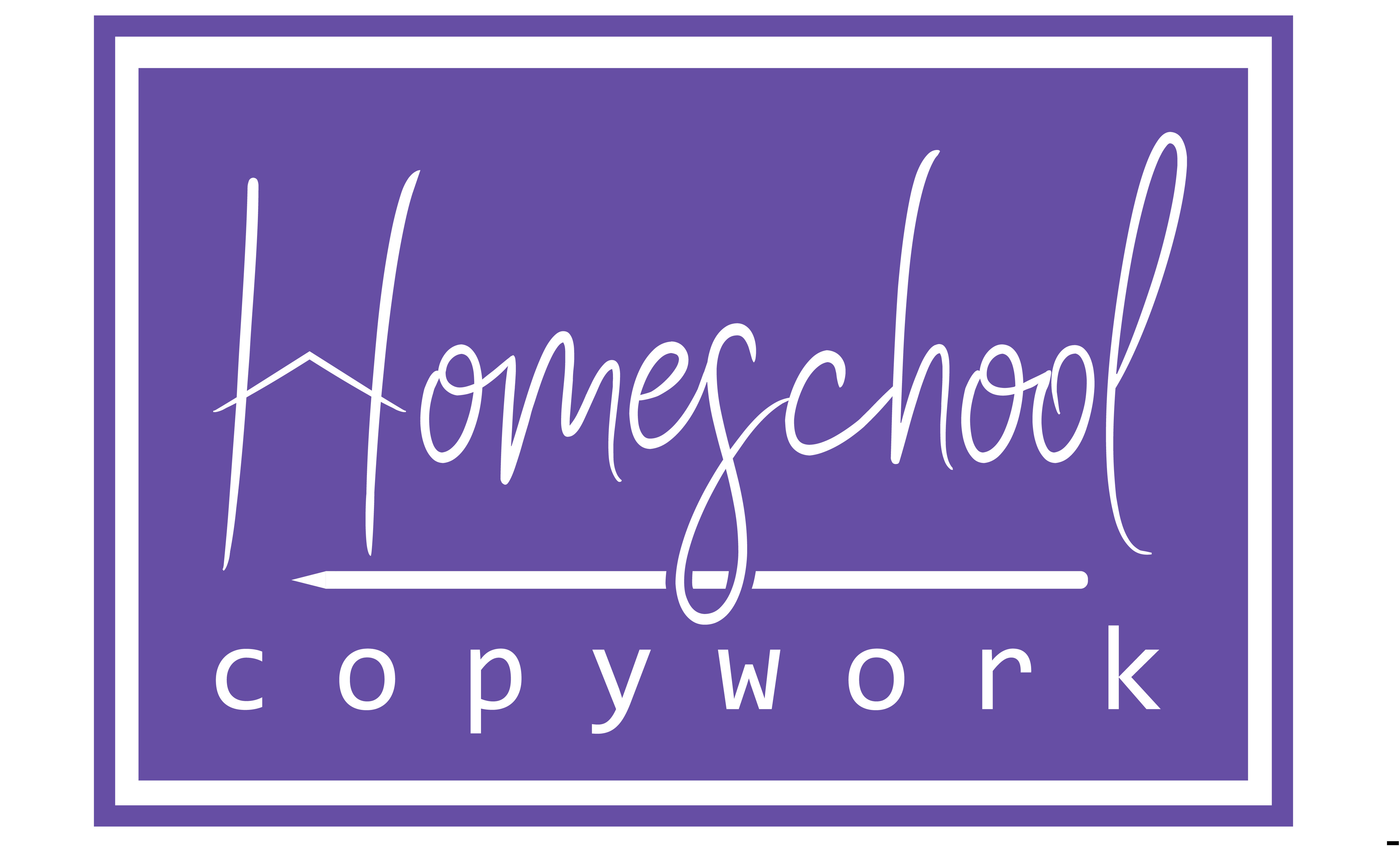 Homeschool Copywork: Logo v1
