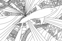 Hand Drawn Shark Coloring Page