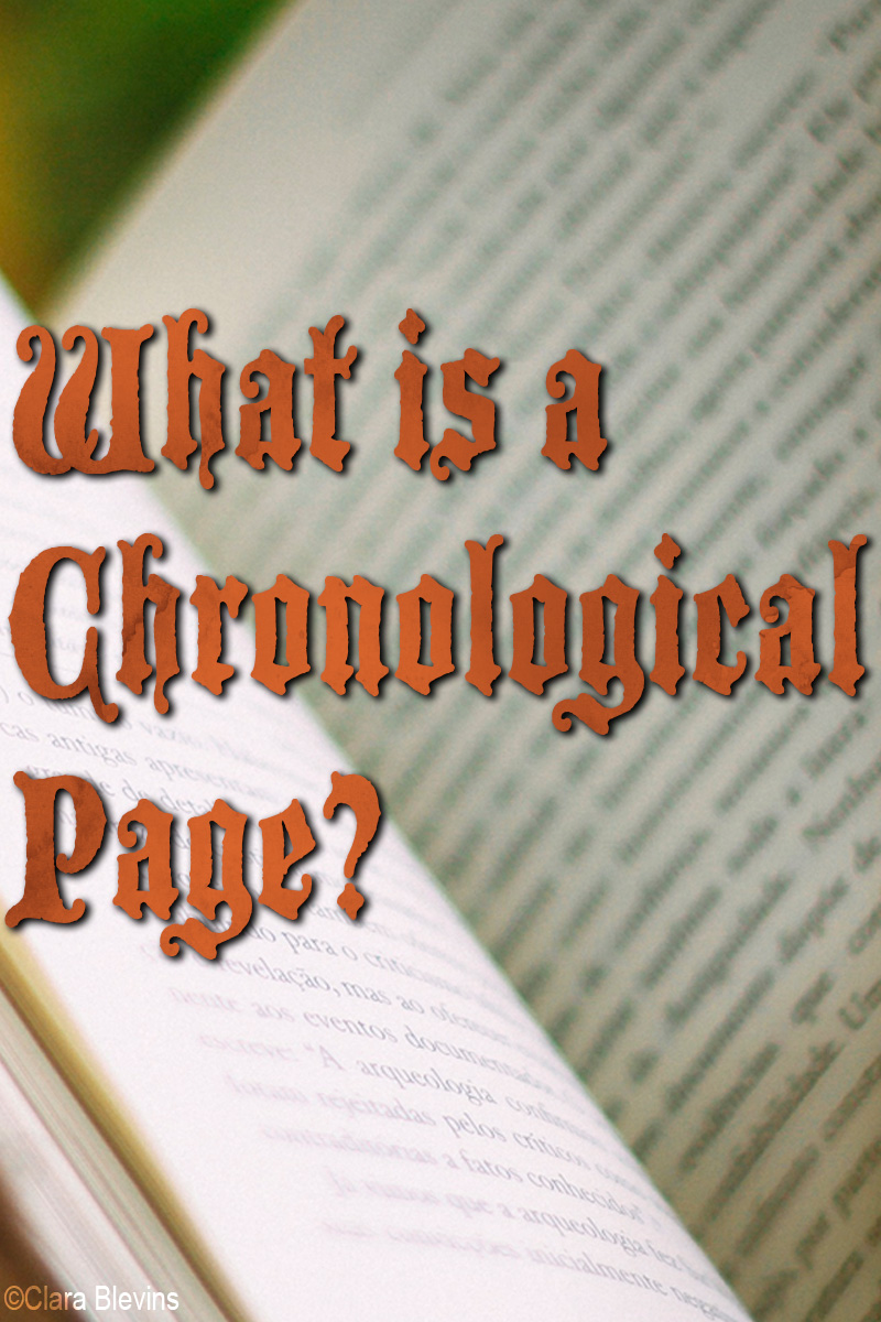 What is a Chronological Page?