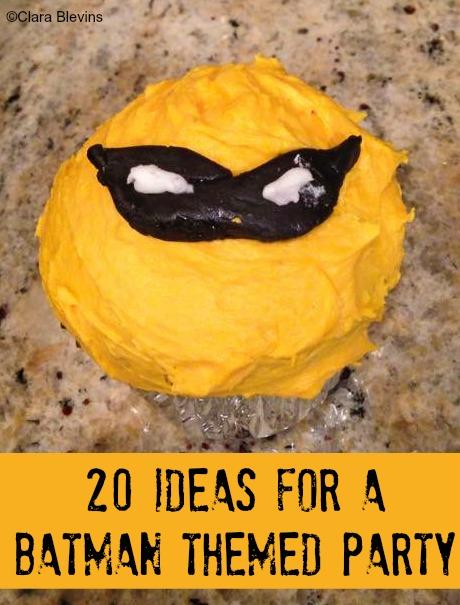20 Ideas for a Batman Themed Party Cupcake