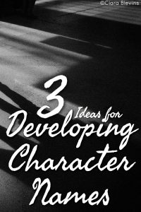 3 Ideas for Developing Character Names