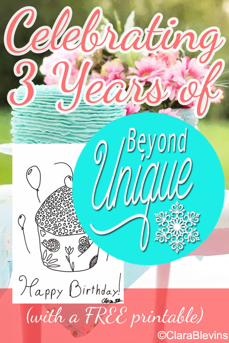 Celebrating 3 Years of Beyond Unique (with a FREE printable)